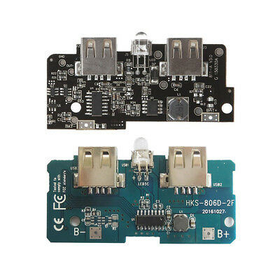 Dual USB 5V 1//2A Power Bank Charger Module Boost Step Up LED PCB Circuit Board