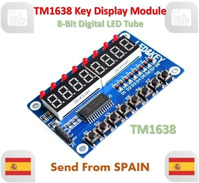 TM1638 Module Key Display 8-Bit Digital LED Tube for AVR Arduino