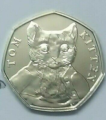50p TOM KITTEN  2017-Beatrix-Potter-coin-Fifty pence UNCIRCULATED - SEALED BAGS