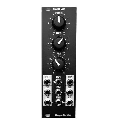 Happy Nerding MMM VCF Eurorack Filter Module (Black)