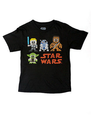 New Star Wars Good Sprites Black T Shirt Luke Yoda Chewy R2d2 Kids