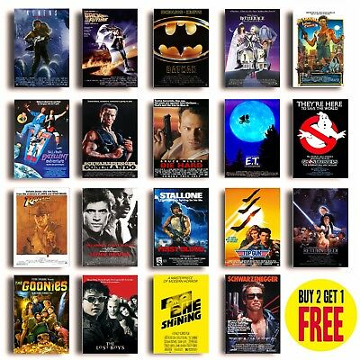 CLASSIC 80s MOVIE POSTERS A3 Size Photo Print Film Cinema Wall Decor Fan Art