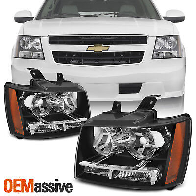 Fit 2007-2014 Suburban Tahoe Headlights Lights Avalanche 2008 2009 2010 2011