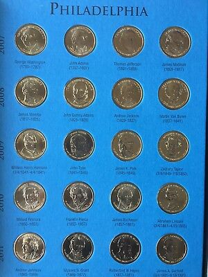 COMPLETE SET OF PRESIDENTIAL DOLLARS P&D (78 Coins) 2007 thru 2016 uncirculated