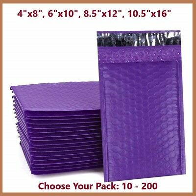 Purple Poly Bubble Mailers Shipping Mailing Padded Bags Envelopes Color Any Size