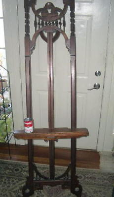 """Antique Artist Easel; stick ball Victorian;1800s LARGE 72""""; maybe walnut adjusts"""