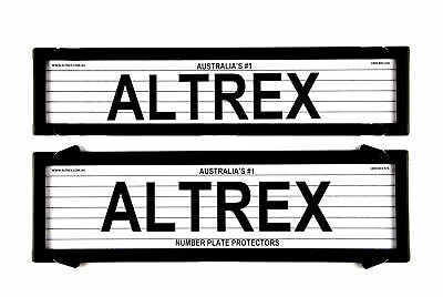 Altrex Number Plate Cover 6 Figure Black With Lines Premium Combination NSW SA