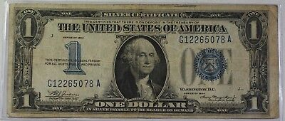 Series of 1934 $1 One Dollar Silver Certificate Note VG-F Old US Currency