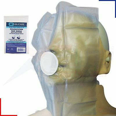 Qualicare Mouth to Mouth Resuscitation Aid CPR Face Shield with Filter firstAid