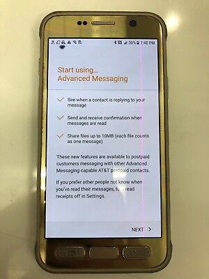 Samsung Galaxy S7 Active 32GB SM-G891A Unlocked GSM AT&T 4G DOT & LINE ON SCREEN