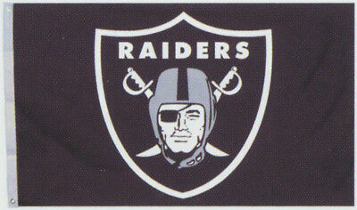 Oakland Raiders Huge 3' x 5' NFL Licensed All Pro Flag / Banner - Free Shipping