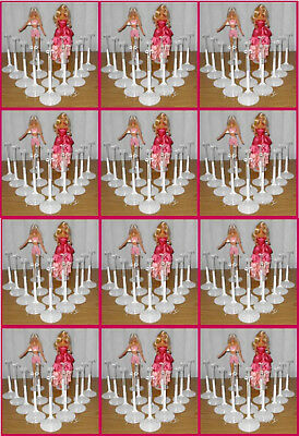 150 White Kaiser BARBIE Doll Stands for Monster High Fashion Royalty
