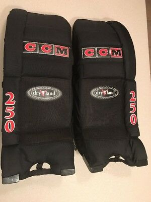 "YOUTH CCM HOCKEY Goalie Pads 27""x10"" Dry Land 250 #O314"