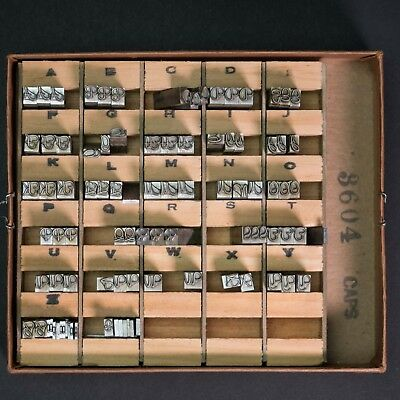 Franklin Hot Stamp Dura Cast Letter Set 3604 Capital Letters- Kingsley, Howard