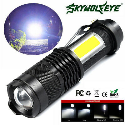 5000lm CREE Q5 14500/AA 4 Modes Zoomable LED Flashlight Torch Super Bright US
