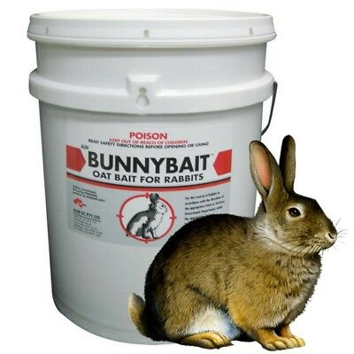 Barmac BUNNY BAIT 2.5kg Pindone Oat Baits Poison for Rabbits Rabbit Control