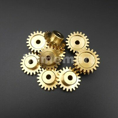 NEW 20 Teeth Brass Gear 1 Modulus T=20 Aperture 4mm DIY Model Accessories 20T4A