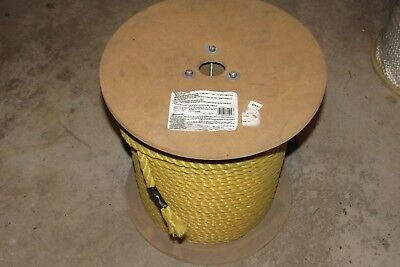 """1/2"""" Polypropylene 3 Strand Yellow Rope @500' (bevis rope PTR1600R) MTS:3,780lbs"""