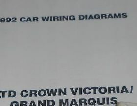 1992 ford ltd crown victoria mercury grand marquis electrical wiring 2002 Mercury Grand Marquis Wiring Diagram 1992 mercury grand marquis \u0026 ford crown victoria fold out wiring diagrams oem