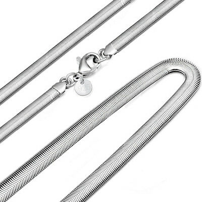 Hot 1PCS 925 Solid Silver Plated 6MM Snake Chain Men Women Necklace 1630 Inch