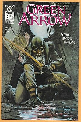 Green Arrow # 2 (Mar 1988, DC) NM- (9.2) Mike Grell story