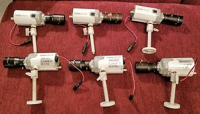 Set of 6 SUPER CIRCUITS PC153C-4G w/ Lens and Mount Home Security Surveillance