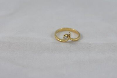 Ring Ladies 18ct Yellow Gold Diamond Set Engagement Dress Ring