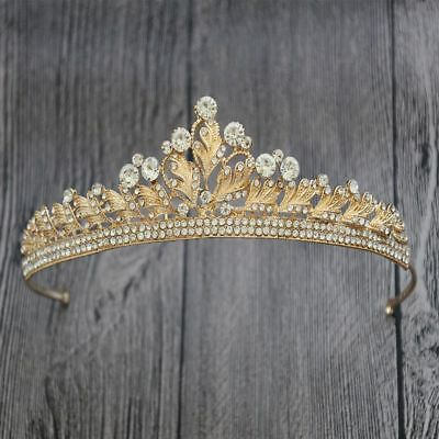 Baroque Crystal Tassel Princess Queen Bride Tiara Crown Hairband Wedding Jewelry