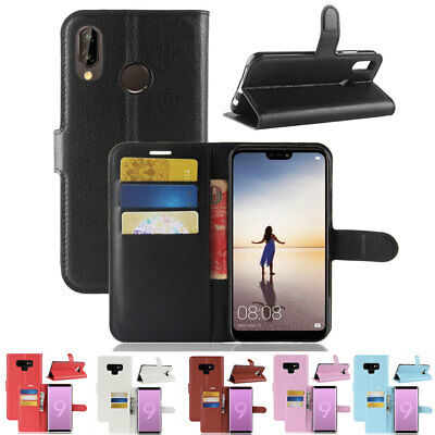 For Hauwei P20Lite/Y5 Y6 Y7 Prime Flip Leather Wallet Case Phone Bag Cover Pouch