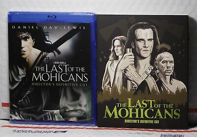New The Last Of The Mohicans On Blu-Ray! Director's Cut! W-Fox Slipcover! Sealed