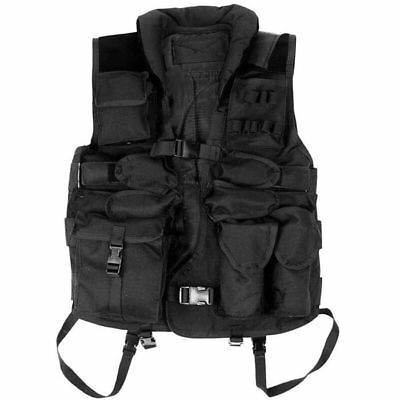 Texar Vest Tactical Molle Combat HD Paintball Military Black