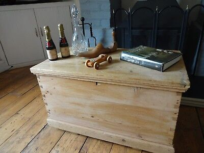 Antique Pine Chest - Blanket Box - Toy Box - Ottomen - Coffee Table -
