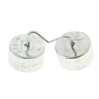 2 Pcs 10g Iron Slotted Calibration Weight Set Hooked Mass Weights w/ Hanger