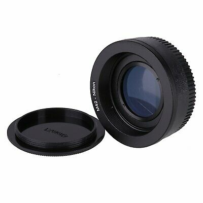 M42 Lens to Nikon AI F mount camera adapter with glass focus to infinity +2cap