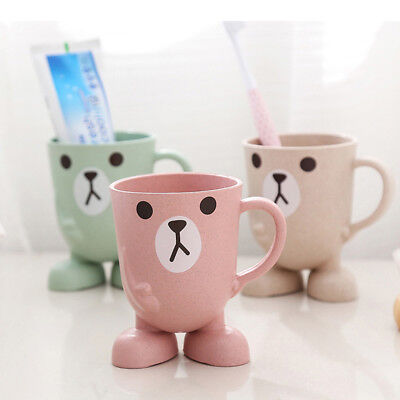 Lovely Cartoon Toothbrush Holder Cup Water Drink Cup Mouthwash Rinsing Mug