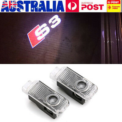 2pcs LED Car Door Welcome Laser Projector Ghost Shadow Logo Light for Audi A3 S3