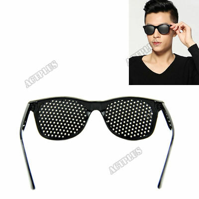 Anti-fatigue Vision Care Stenopeic Pinhole Glasses Eyesight Improver Black ACT