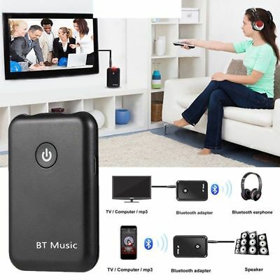 Bluetooth Transmitter Receiver Stereo Audio Adapter for TV Speaker HIFI 3.5mm AU