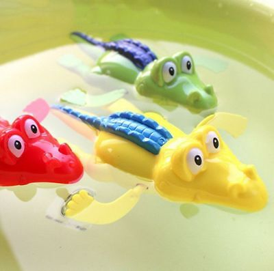 Wind Up Clockwork Cute Crocodile Kid Baby Swimming Favor Bath Time Play Toy US