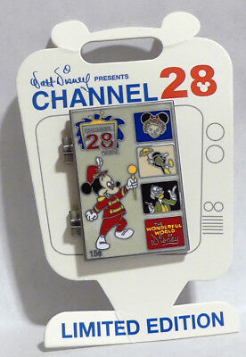 Wonderful World of Disney Channel 28 TV Guide Pin Marching Mickey Mouse LE 1000