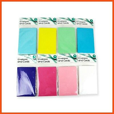 72 x BLANK CARD & ENVELOPE SETS | Assorted Colours Card Making DIY Invitations