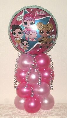 LOL SUPRISE DOLLS -  FOIL BALLOON TABLE DECORATION  DISPLAY - No Helium needed