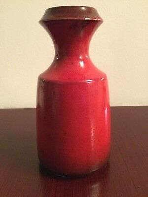 West German Pottery mid century Vase Steuler Keramik Form 318/20 rot red WGP