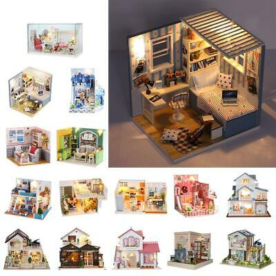 15 Patterns 1/24 Scale DIY Handcraft Miniature Project Kit Wooden Dolls House
