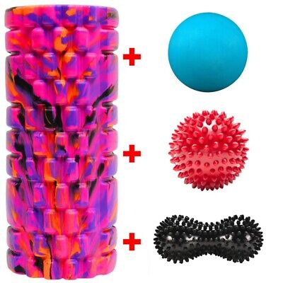 Massage Grid Foam Roller Pilates Physio Muscle Rehab Trigger Point Ball Lacrosse