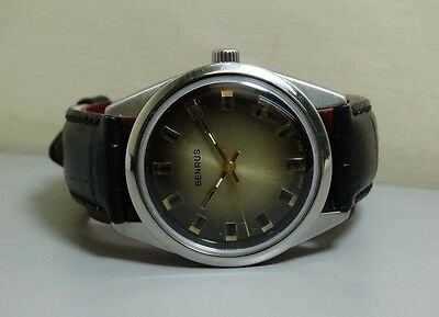 VINTAGE Benrus WINDING SWISS WRIST WATCH E645 OLD USED ANTIQUE Superb