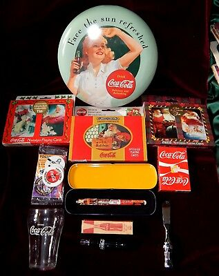 Coca Cola Coke Items Lot-Some Sealed-All Near Mint-Vintage And Collectable