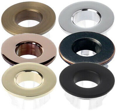 Basin overflow bezel ring cover-top quality solid brass; gold chrome black brass