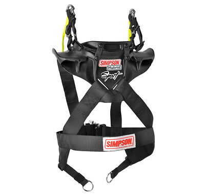 "Simpson Hybrid Sport FHR Hans Device SFI STD Child 22""-26"" D-Ring Tether + Posts"