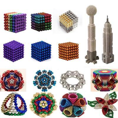 216Pcs 3/5mm 3D Magic Bucky Magnet Balls Sphere Cube Beads Building Kid Toys